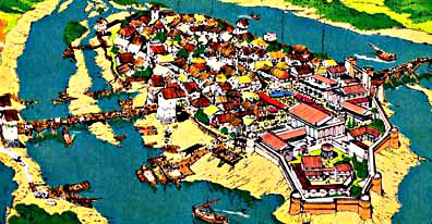 Paris aus der Luft  © Deutsches Asterix Archiv 1998-2013, Zeichnungen: Albert Uderzo - © Les Editions ALBERT-RENÉ, GOSCINNY-UDERZO