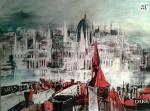 """Acryl Collage """"Budapest"""" von Helga Machart"""