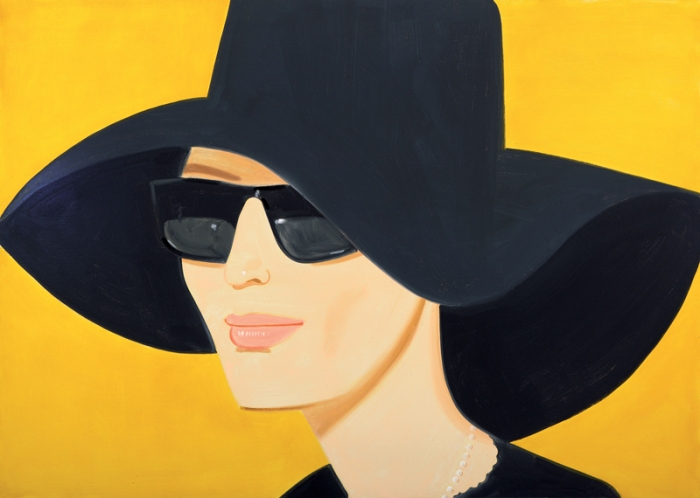 Alex Katz: Black Hat #2, 2010, Öl auf Leinwand Albertina, Sammlung Batliner © Bildrecht, Wien, 2013