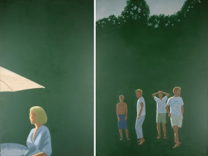 Alex Katz: Carver's Corner, 2000; Öl auf Leinwand Albertina, Wien © Bildrecht, Wien, 2013