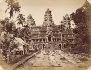 Angkor Wat - Fotografie aus dem Jahr 1866 von Emile Gsell (1838-1879)