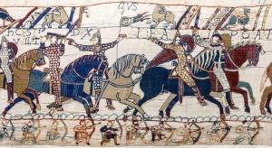 Ausschnitt des Wandteppichs von Bayeux