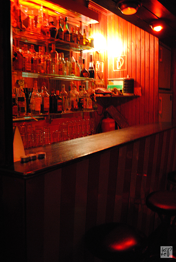 Die kleine Bar, die zum Theaterraum gehört.