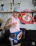 Profi-Boxerin Eva Voraberger, Doppelweltmeisterin im Superfliegengewicht