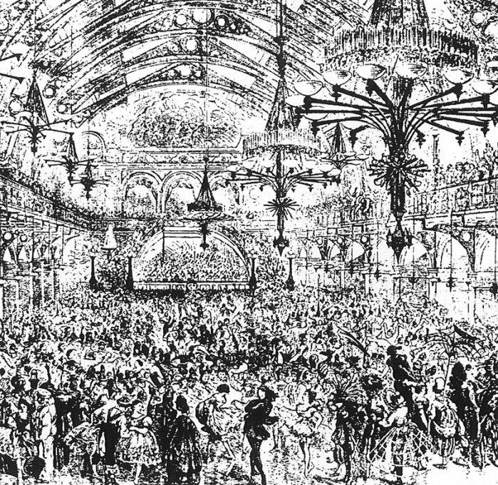 Das Dianabad als Ballsaal, um 1850  (c) de.wikipedia.org