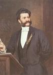 Johann Strauss II gemalt von August Eisenmenger, 1888