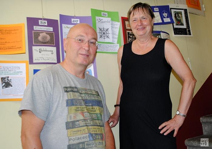 Dr. Thomas Schmitt, ärztlicher Leiter und Obmann des Gruppe 94 – Zentrum für ganzheitliche Krebsberatung – und seine Mitarbeiterin Renate Marschalek, die selbst den Krebs besiegt hat!